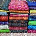 Ikat Raw Silk Fabric