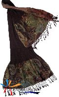 Wool Lycra Traditional Embroidery Scarf