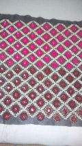 Multi Head and Zari Embroidery On Net Fabrics