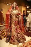 Red Bridal Georgette Lehenga with Silk Blouse with Stone Embellishment