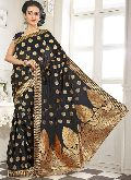 Divine Boutique Party Wear Banarasi Silk Saree