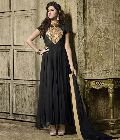 Eye Catching Black Embroidered Georgette Party Wear Anarkali Suit