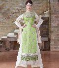 Impressive Green Embroidered Georgette Salwar Kameez