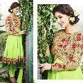 Innovative Liril Green Embroidered Georgette Salwar Kameez