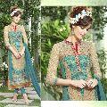 Phenomenal Beige Embroidered Georgette Salwar Kameez