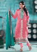 Latest Designer Party Wear Zari Resham Embroidered Dress