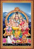 Lord Shiva with His Family Posters
