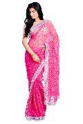 Pink Brasso Net Saree