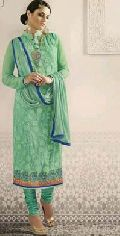 Peppy Turquoise Faux Churidar Suit