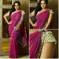 georgette pearl sarees with full peral blouse
