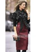 Ladies Leather Long Skirt
