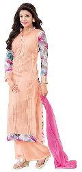 Shonaya Orange & Red Colour Designer Embroidered Faux Georgette Semi Stiched Salwar Suit