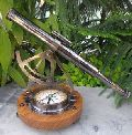 Telescope with Brass & Compass Stand