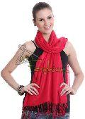 Womens Red Viscose Shawls