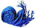 Womens Royal Blue Viscose Shawls