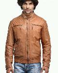 Mens Cognac Leather Jacket
