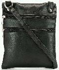 Mens Teakwood Genuine Leather sling Bag (SKU: MB-04 -BLACK)