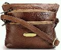 Ladies Teakwood Genuine Leather Sling Bag (SKU: MB-29-TAN)