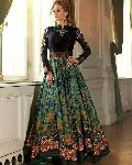 FB-6538 Long Banglori Silk Anarkali Semi Stitch Salwar suit