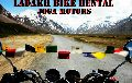 MOTORCYCLE ON RENT FOR LEH LADAKH