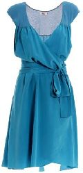 Ladies blue chiffon dress
