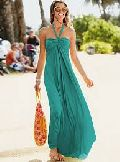 Ladies Green Chiffon Beach Dress