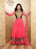 Soft Net Unstitched Anarkali Suit