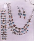 Sterling Silver Necklace Set  (A 14)