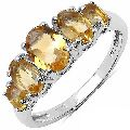 Citrine Gemstone Ring with 925 sterling silver