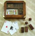 Item Code :- IH 12221 Wooden Playing Card Holder