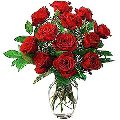 12 Red Rose Flower Bouquet