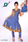 Net Salwar Suits - (1008)