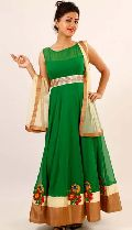 Elegant, Ravishing Designer Green Salwar