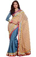 Manjula Firoji Exclusive Designer Viscos Georget and Jut Saree