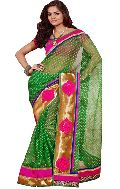 Manjula Green Exclusive Designer Thousand Butti Art Kora Saree