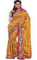 Manjula Mustard Exclusive Designer Art Silk Saree
