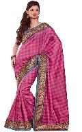 Manjula Pink Exclusive Designer Art Silk Saree