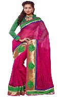 Manjula Rani Exclusive Designer Thousand Butti Art Kora Saree