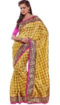 Manjula Yellow Exclusive Designer Art Silk Saree