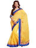 Manjula Yellow Exclusive Designer Suffy Net Jequared Saree