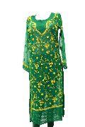 Green Chikan Embroidery Kurti