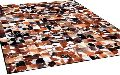 Leather Hide Patch Work Carpets