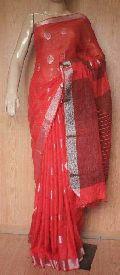jamdani linen saree