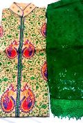 Ladies Unstitched Kashmiri Phulkari Suit