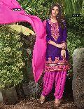 Beautifully Embroidered Cotton Patiyala Suit