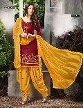 Cotton Embroidered Patiyala Salwar Kameez