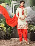 Designer Embroidery Work Cotton Salwar Suit