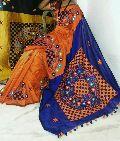 Kachchi Work Handloom Cotton Silk Sarees