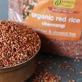 red paddy rice