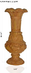 Intensely Carved Wooden Pot